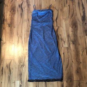 Arianna by Rachel Kaye dress size 4 blue and black